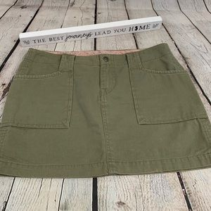 Lucky Brand green cotton mini jean skirt size 0/25